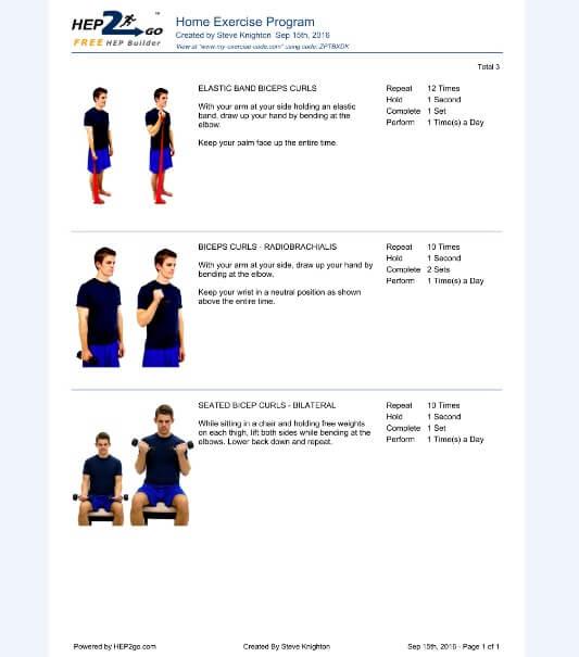 Arm Exercises Biceps Triceps