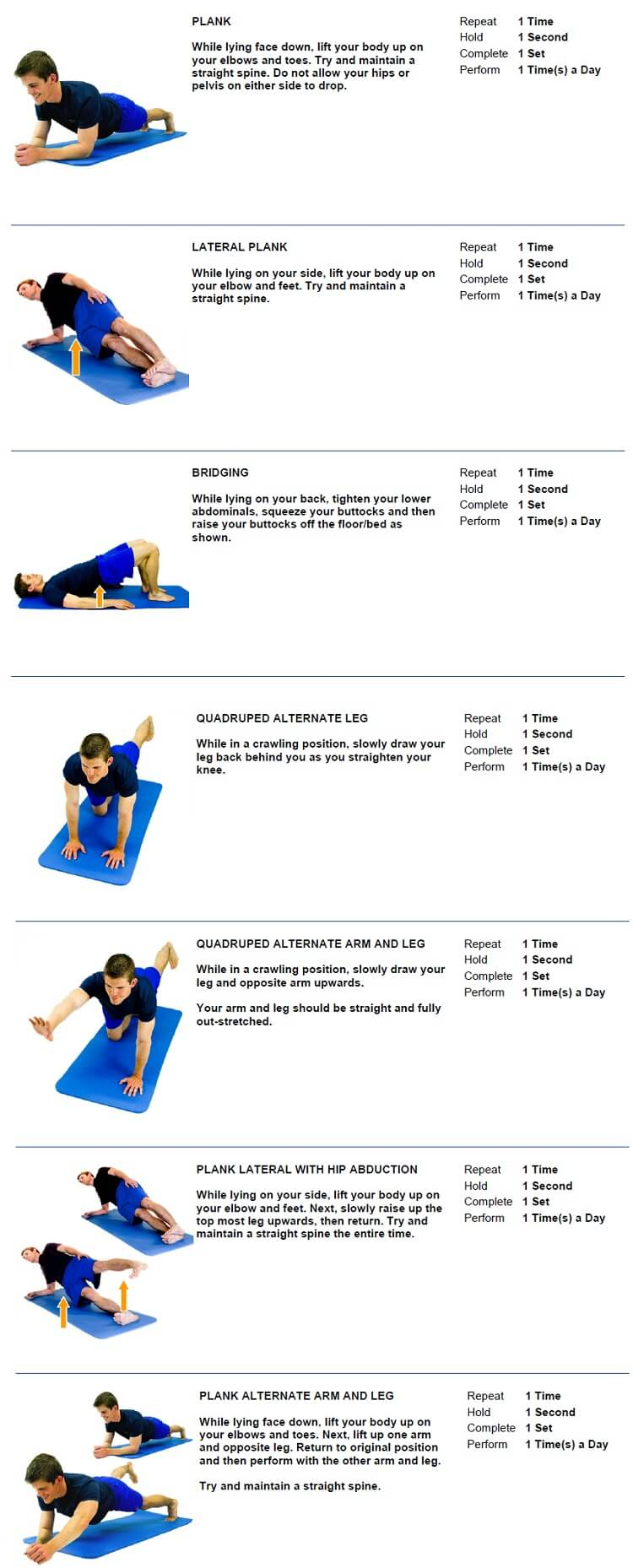 Core and Lumbar Exercises Chiropractor Approved