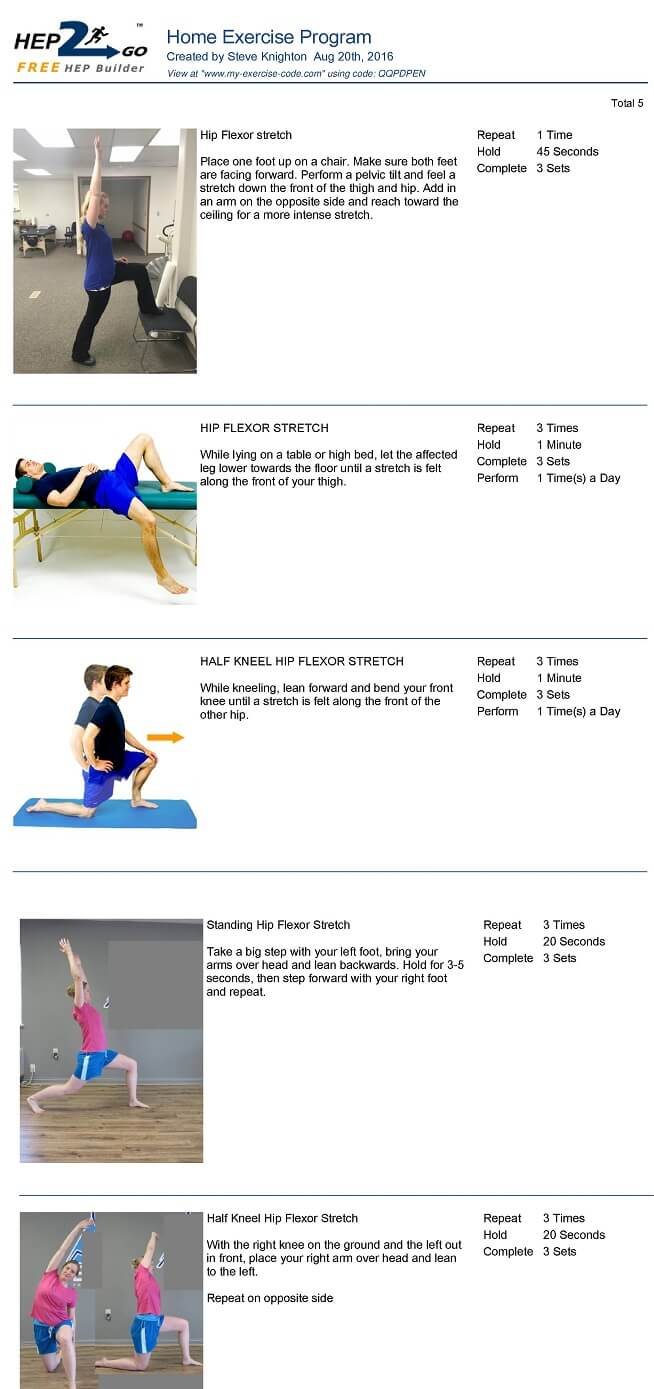 Hip Stretches For Back Pain