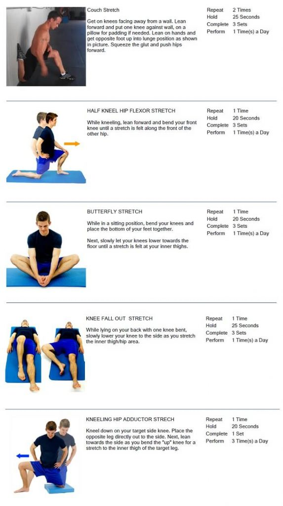 Hip Stretches Oakvile Chiropractor Approved