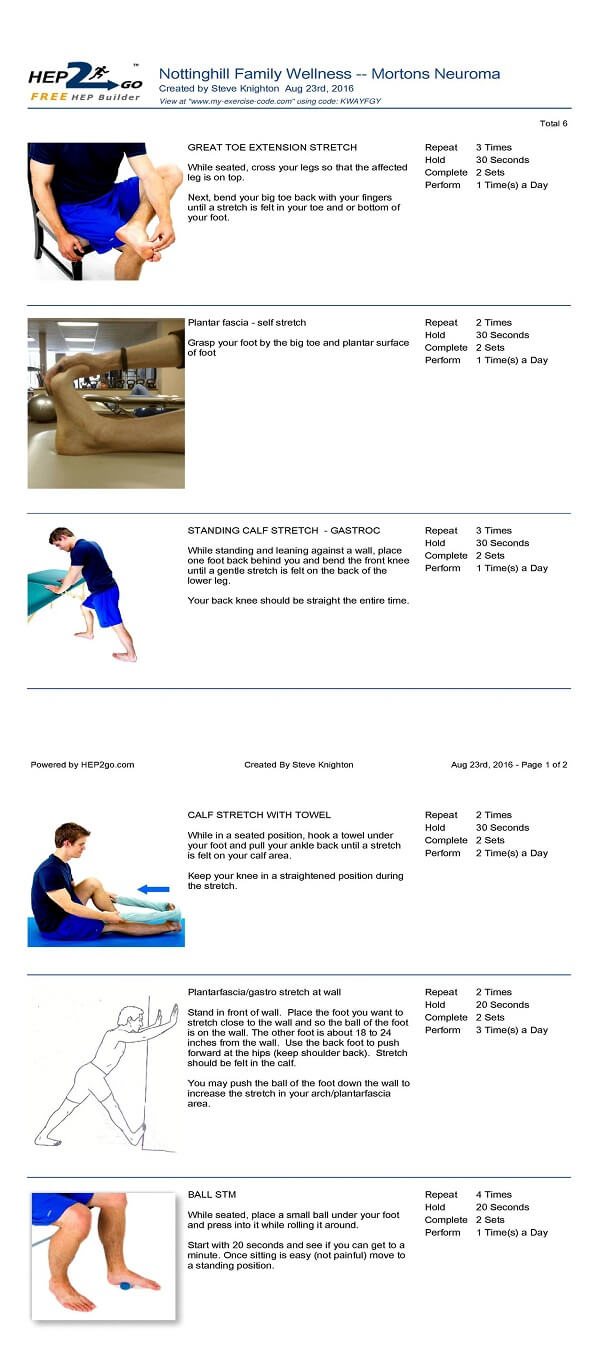 Mortons Neuroma Treatment Chiropractor Approved