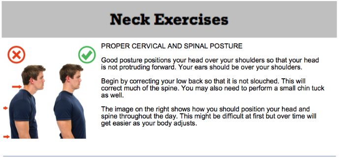 oakville chiropractor posture exercise