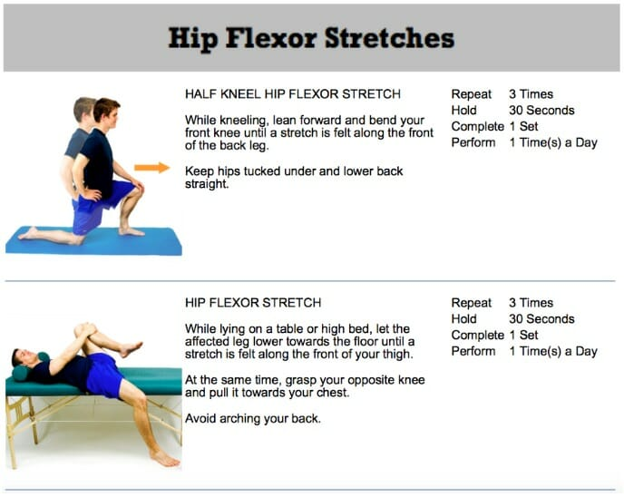 oakville chiropractor best hip flexor stretches