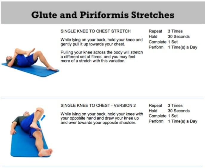 oakville chiropractor glute stretch