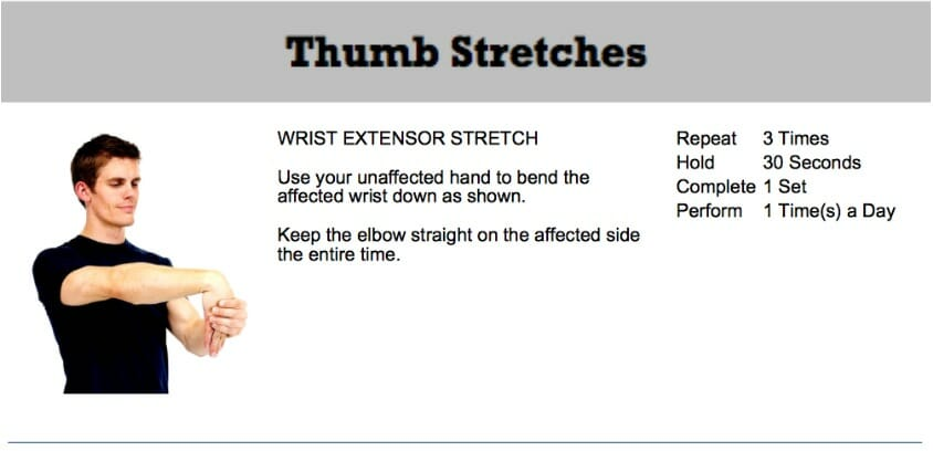 oakville chiropractor thumb stretches