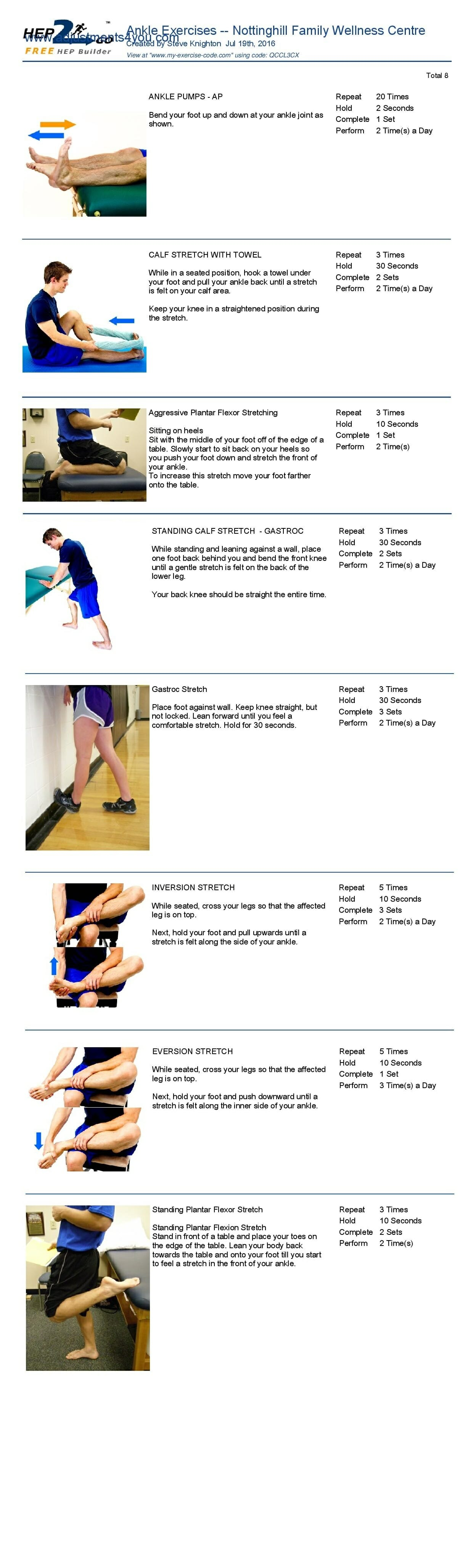 Chiopractor Oakville approved sinus tarsi stretches