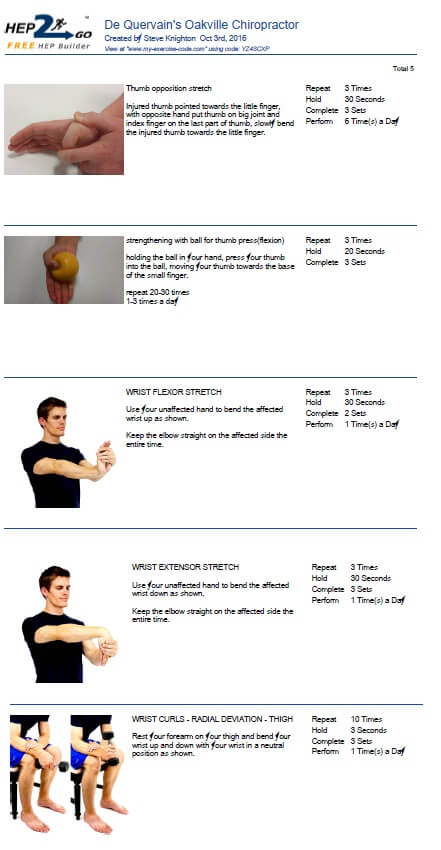 thumb exercises chiropractor approved