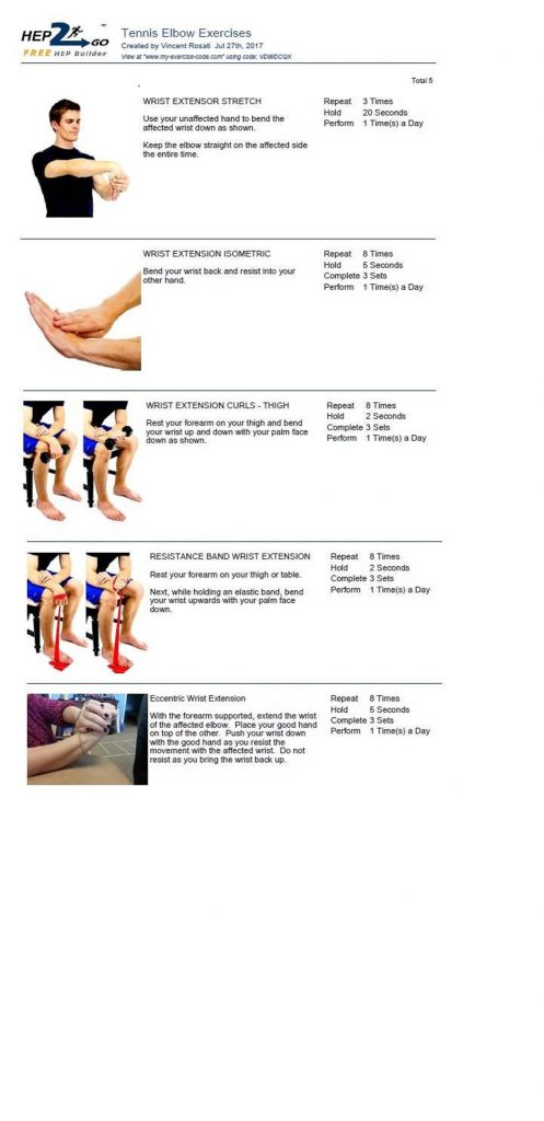 Tennis Elbow Exercises