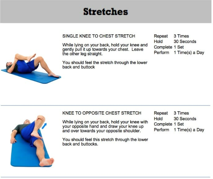 Oakville chiropractor lumbar stenosis stretches