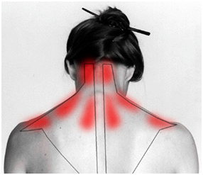 stress and tension in your upper back an neck