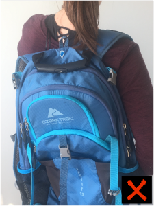 how not to wear a backpack from your chiropractor perspective