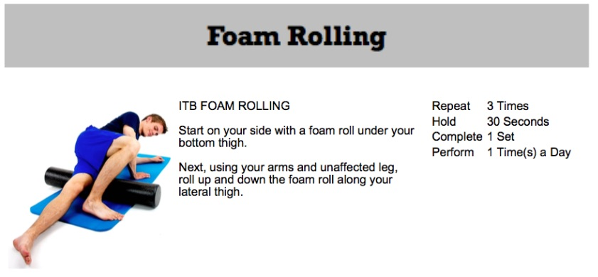 oakville chiropractor foam rolling for knee pain