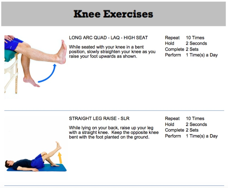 knee replacement exercises oakville chiropractor