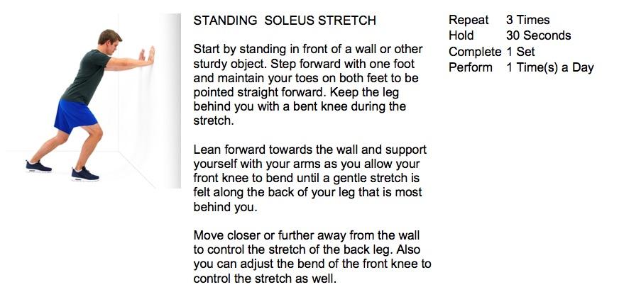 oakville chiropractor soleus stretch