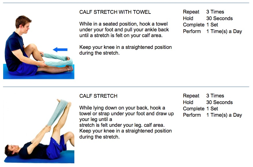 oakville chiropractor assisted calf stretching