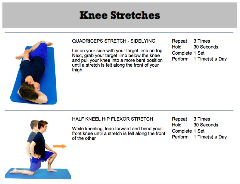 oakville chiropractor knee replacement prep exercises