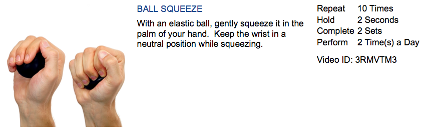 carpal tunnel exercise ball squeeze