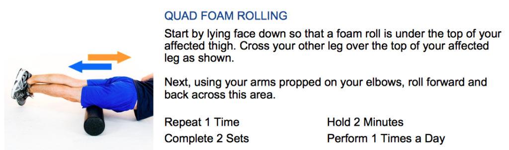 oakville chiropractor quad foam rolling