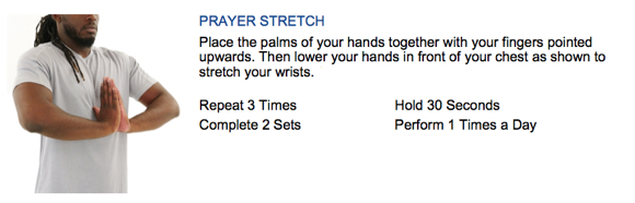 oakville chiropractor golfer's elbow prayer stretch